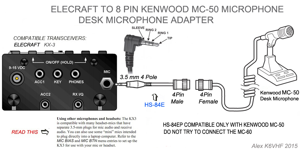 Excellent 4 Pin Male Kenwood Mc 50 Mic To Elecraft Kx3 Kx2 Right Angle Download Free Architecture Designs Scobabritishbridgeorg