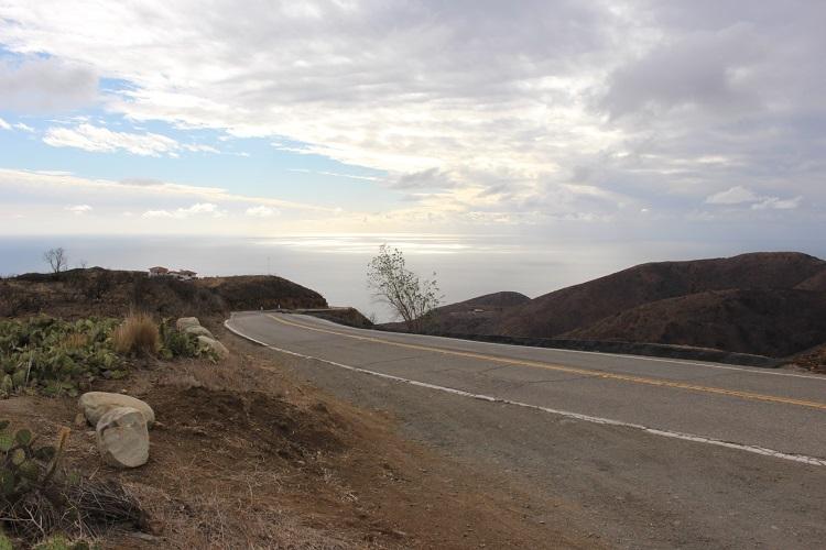 Текущая высота места 500 метров над уровнем океана. Вид на океан.